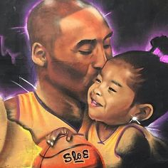 24 Murals Paying Tribute To Kobe Bryant Around L. Kobe Bryant Family, Lakers Kobe Bryant, Lakers Team, Dodgers, Basketball Art, Love And Basketball, Basketball Videos, Basketball Photos, Kobe Bryant Daughters