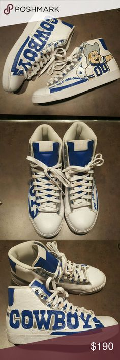 NFL Dallas Cowboys Womens Canvas Stripe Shoes Small 5-6 Blue