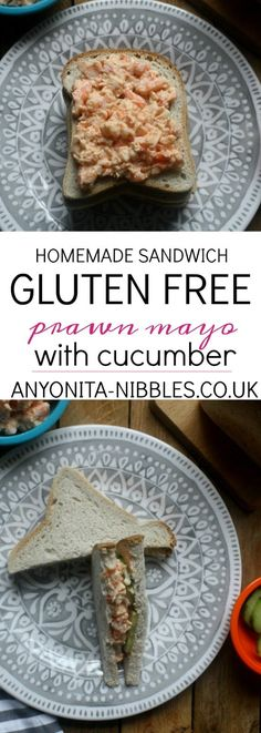 How to make a homemade gluten-free prawn mayo sandwich Mayo Sandwich, Cucumber Sandwiches, Gluten Free Sandwiches, Homemade Sandwich, Gluten Free Recipes, Easy Recipes, Prawn, Fish And Seafood, Stuffed Peppers