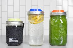 Coffee, Water, Smoothie // Repeat. Take your favorite drinks everywhere you go in a mason jar with a Cuppow drinking lid!