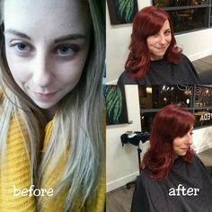 Before & After by Master Riza! To book with Riza call Society the Salon today at 250-861-6606
