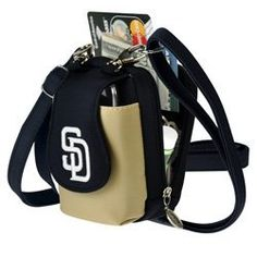 "MLB San Diego Padres Purse Plus by Charm14. $16.95. This is the infamous Purseplus,  commonly known as ""The Little Bag that holds a whole lot!""  Why take out a bulky handbag with you when you can fit everything you need in this compact purse which is a ¼ of the size? This cell phone purse comes with a short strap and a long adjustable shoulder strap that allows you to wear this cross-body. Just like a small handbag.  You'll be amazed at all that this little handba..."