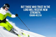 Skiing Bible Verse Poster – Children's Ministry Deals