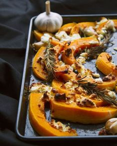 Roasted Butternut Squash with Feta and Rosemary - Recipes - Sprouts Farmers Market Vegetable Side Dishes, Vegetable Recipes, Harissa, Cooking Recipes, Healthy Recipes, Healthy Food, Baked Pumpkin, Pumpkin Recipes, Roasted Butternut Squash