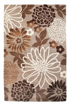 The Rise & Shine Rug from Urban Barn - bold floral shapes, bringing in the Wood element in Earth tones to fuse expansive growth and grounding