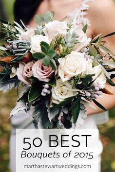 50 Best Bouquets of 2015 | Martha Stewart Weddings