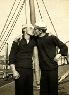 Hot Vintage Sailors in Love Gay couples have always been there, reclaiming our history (please follow minkshmink on pinterest) #gaycouple #secretlove