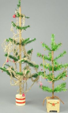 LOT OF TWO GERMAN FEATHER TREES : Lot 1964