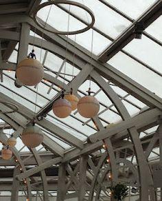 Funny lamps at a restaurant in Tivoli, Copenhagen