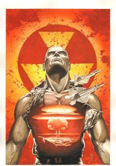 Doc Savage #12 Painted Cover - Nuclear Destruction - 2010 art by J.G. Jones