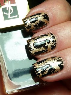 Best crackle effect I've seen. By Yves Saint Laurent. It will be sold in pairs with a gold, a silver, a dark taupe, or mossy green.