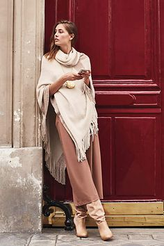 The whole outfit / Pont Neuf Poncho - anthropologie.com
