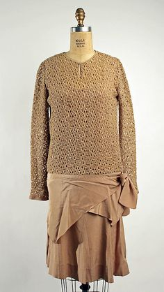 Dress Nellie Harrington  Date: 1928 Culture: American Medium: wool, silk, leather Accession Number: C.I.56.33.4a, b