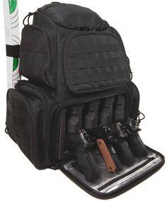 Ultimate Range bag Case Club Tactical 4-Pistol Backpack
