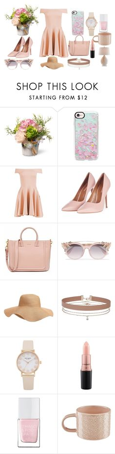 """fancy spring time"" by outfitgirlthatisme on Polyvore featuring National Tree Company, Casetify, Boohoo, Topshop, Jimmy Choo, Old Navy, Miss Selfridge, MAC Cosmetics, The Hand & Foot Spa and Murmur"