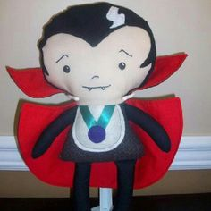 Find this adorable dracula & more on giggle worm's fb page! We love ours, great #gift #holiday #doll #handmade #shop #local