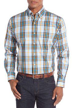 'Sweet Home' Regular Fit Plaid Sport Shirt