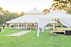 Wedding Marquee |    I can picture my own wedding one day! Something like this but at night time ful of fairy lights and candle on the tables with cute little table decorations. A dreamy feeling to it!