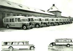 Akershus fylke Skedsmo kommune Strømmen Busser bygget på Strømmens Verksted for Oslo Sporveier på 1930-tallet