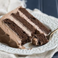 Simply Perfect Chocolate Cake with Chocolate Swiss Meringue Buttercream: this is the BEST chocolate cake recipe out there. So simple to make, moist, and with tons of dark chocolate-y flavor! Best Ever Chocolate Cake, Chocolate Cake From Scratch, Perfect Chocolate Cake, Amazing Chocolate Cake Recipe, Cake Recipes From Scratch, Cake Chocolate, Homemade Chocolate, Chocolate Deserts, Chocolate Butter