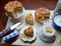 Bienenstich Kuchen Miniatur 1:12