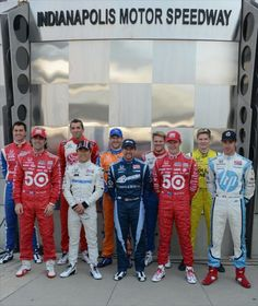 Drivers in the Indianapolis 500.