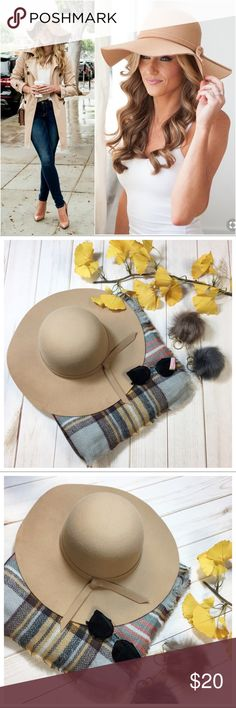 Beige boho bow floppy hat Super cute and trendy! Add to bundle to save when purchasing Infinity Raine Accessories Hats
