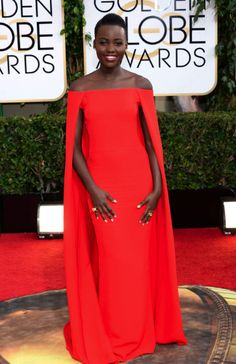 Lupita Nyong'o in Ralph Lauren Collection - styled by Micaela Erlanger | Golden Globes 2014