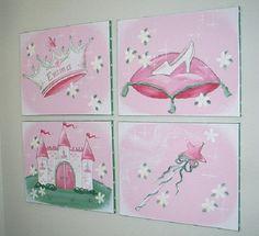 Princess Wall Decor | Princess Wall Art- Make Your Daughter a Princess : Princess Wall Art