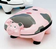 mini pig grill so want one of these :) xx This Little Piggy, Little Pigs, Pig Kitchen, Kitchen Stuff, Sandwich Toaster, Tout Rose, Piggly Wiggly, Pig Pen, Mini Pig