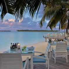 Vilu Restaurant overlooking the lagoon at the Conrad Maldives.  |  @conrad_maldives #luxuryhotelpix  #luxurytravel  #wishiwasthere