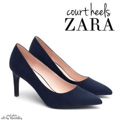 "ZARA suede navy court heels NEW in box, never worn and in excellent condition. perfect staple piece for any closet!  size- 6 heel height- 2.75""  due to lighting- color of actual item may vary from photos.  please don't hesitate to ask questions. happy POSHing    use offer feature to negotiate price on single item  i do not trade or take any transactions off poshmark, so please do not ask. Zara Shoes Heels"