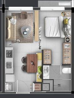 Small Tiny House, A Frame House, Small Apartments, Loft, Home Kitchens, House Plans, Floor Plans, Farmhouse, Room Decor