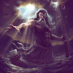 Greek Mythology, Legend and Folklore Art Gallery Greek Mythology Tattoos, Greek Mythology Gods, Greek Gods And Goddesses, Roman Mythology, Irish Mythology, Poseidon Tattoo, Tatto Ink, Roman Gods, Ocean Art