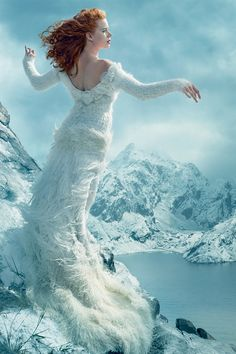 """glamourstarsfashion: """" Amy Adams and Tim Burton Reimagine The Red Shoes Photographed by Annie Leibovitz """""""