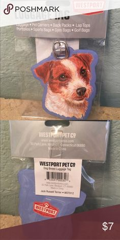 🆕 BACK IN STOCK!!! Jack RusselTerrier Luggage Tag Direct from vendor. New in package. Vendor is sold out so these are the last!!!! ⚠️PRICE FIRM UNLESS BUNDLED⚠️ Boutique Accessories