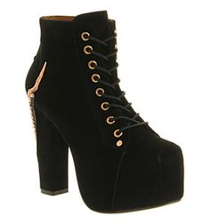 8ff8ff84ef62 Jeffrey Campbell LITA CLAW PLATFORM ANKLE BT BLACK SUEDE Shoes - Womens  High Heels Shoes -