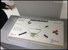 Torta 1 metro x 50 cm 12 kg Inaugurazione Maison de beautè by Smeragliuolo - Caserta