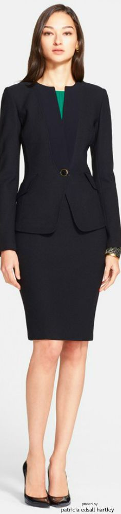 John Collection Boucle Knit Jacket with Crepe Trim Business Outfits, Business Attire, Office Outfits, Business Fashion, Business Casual, Office Fashion, Work Fashion, Modern Suits, Work Looks