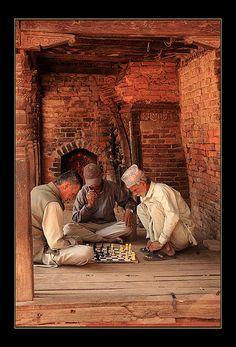 échec et mat - Bhaktapur Nepal