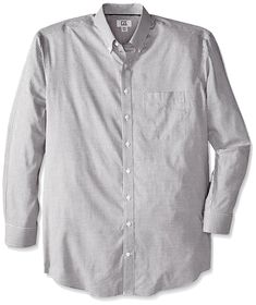 010f52b3f Men s Big-Tall Long Sleeve Epic Easy Care Tattersall Shirt - Black -  CU11GSFH9RF