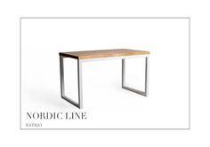Stół - Estilo Nordic Line  Rozmiar: 130cm długość x 65 szerokość x 75cm wysokość Grubość blatu stołu: 2,7cm Wykończenie: jesion lakierowany, stal lakierowana proszkowo, kolor biel. Grubość blatu stołu: 2,7cm Wykończenie: jesion lakierowany, stal lakierowana proszkowo, kolor biały. Chętnych do zakupu zapraszamy na naszą stronę internetową.