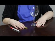How to Decorate Wine Glasses With Paint Markers : Craft Projects With Paint - YouTube