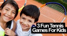 Tennis is a great activity for kids because it gives them a fun way to get out the house, stay active and to play with their friends. Tennis Lessons For Kids, Games For Kids, Tennis Games, Tennis Tips, Tennis Today, Tennis Techniques, How To Play Tennis, Pe Activities, Tennis Online