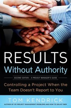 How can you get the most out of a project regardless of your power or position in an organization?  With expert guidance.  Kendrick provides thorough explanations and information for managing a project of any size in any area. He builds confidence by listing ten things that any project leader can control, then  explores the three elements of project control: process, influence and management,  and examines when to use them throughout the life of a typical project.