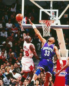 Michael Jordan Chicago Bulls Alonzo Mourning Charlotte Hornets