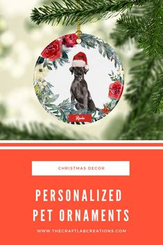 Personalized Ornaments, Mugs, Jewelry, Decor Gift Items by TheCraftLabCreations Christmas Ornaments To Make, Unique Christmas Gifts, Christmas Dog, All Things Christmas, Christmas Tree Decorations, Christmas Bulbs, Xmas, Winter Wonderland Decorations, Personalized Family Gifts
