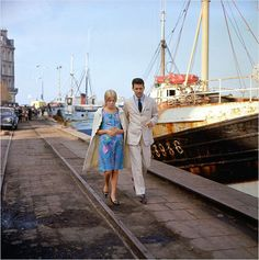 Catherine Deneuve and Nino Castelnuovo in Les parapluies de Cherbourg directed by Jacques Demy, Photo by Leo Weisse Jacques Demy, Catherine Deneuve, Umbrellas Of Cherbourg, Michel Legrand, French Movies, Tokyo Olympics, Stream Of Consciousness, Paris Match, Summer Games