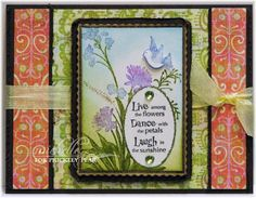 Prickley Pear Rubber Stamps: Flowers Clearly Beautiful Stamp Set; Fanciful Flight ATC