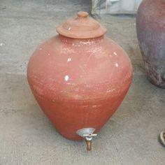 Stoneware Water Cooler Alternative Storage for Liquids  visit pickerjunk.net for more :)  #vintage #stoneware #watercooler #waterstorage #clay #earthen #makti #banga #tapayan